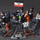 WW2 Germany Schutzstaffel Soldiers minifigures Lego Military Sets Compatible Toys