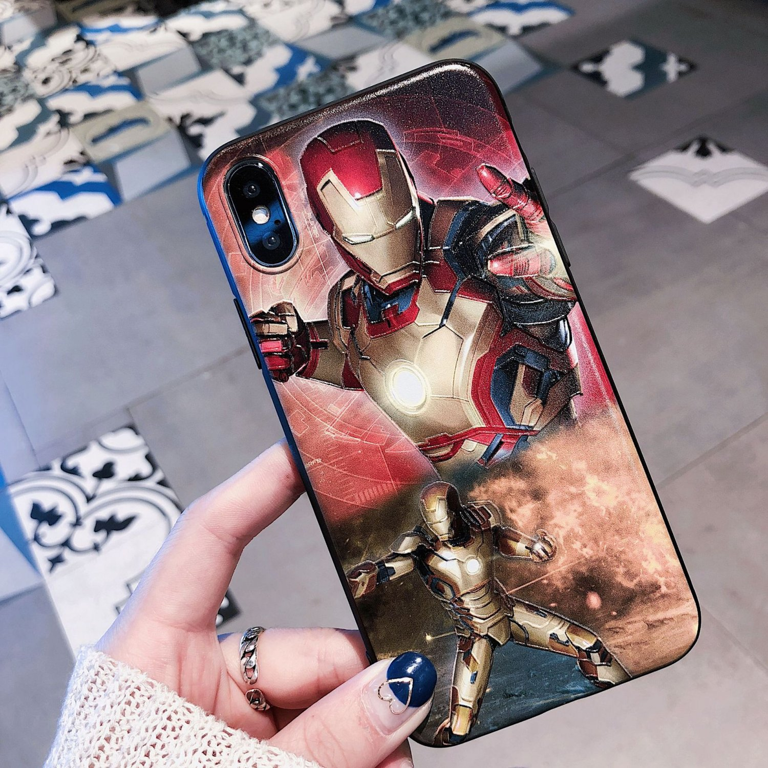 2018 Avengers Infinity War iPhone 7 Plus Cases Iron Man iPhone 7 Plus Cases