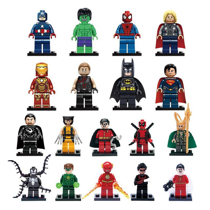 2018 Super Heroes set Hulk Thor Spider Man Minifigures Lego minifigures Compatible Toys