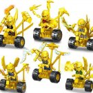 Ninjago Sets Gold Ninjago on Motors Minifigures Lego Compatible Toys