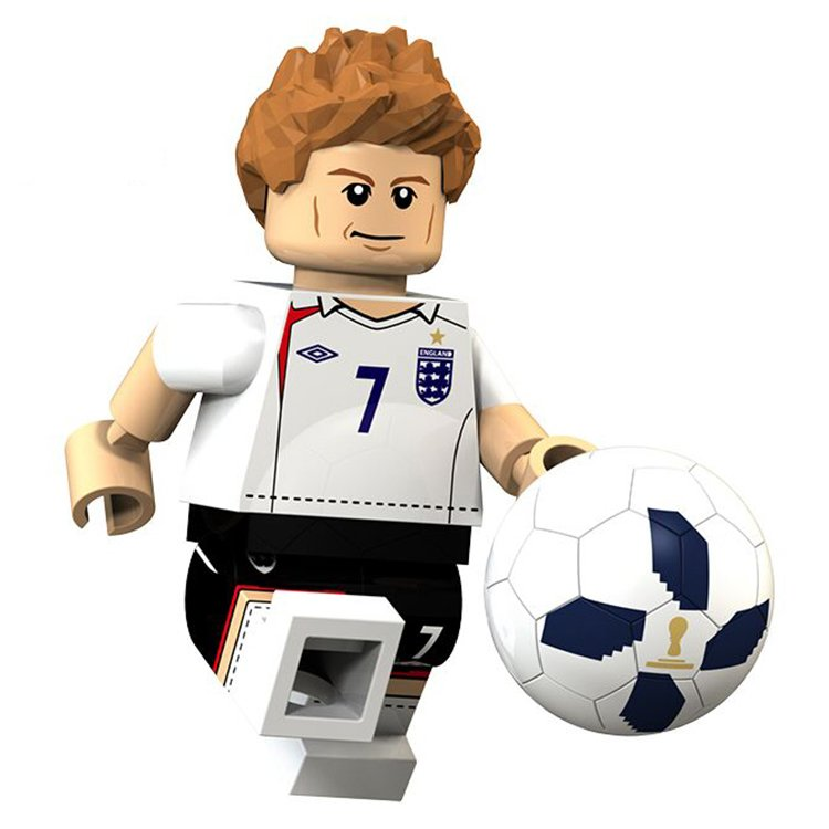 David Beckham Minifigures England National Team World Cup Lego Compatible Toys