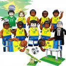 2018 World Cup Brazil national football team Minifigures Lego Compatible Toys
