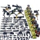 America SEAL Team SIX Terrorists Minifigures Zero Dark Thirty Lego Military sets Compatible Toy