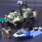 Beach landings Armoured vehicle Speed Boat Soldiers Toys Compatible Lego Military set