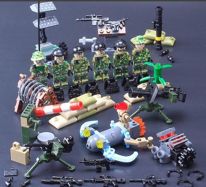 SWAT American Navy Seals Building block Military Minifigures Toy Compatible Lego Military