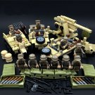 Germany 7. Panzer-Division Army minifigures WW2 Soldiers Building block Toy Compatible Lego Toy