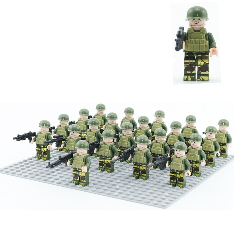 101st Airborne Division Minifigures WW2 Military building block Compatible Lego Toy US Soldiers
