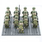 America Army Commando Soldiers Minifigures Compatible Lego WW2 Military building block Toy