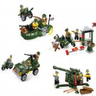 WW2 America Soldiers Assault German army Compatible Lego Military Minifigures building block Toy