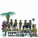 WW2 America soldiers Minifigures Hacksaw Ridge building block Toy Compatible Lego WW2 Military
