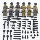 World War II building block Toy US army German army Soldiers minifigures Compatible Lego WW2