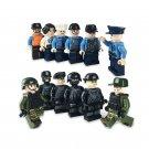 12 pcs City police S.W.A.T.minifigures City building block Toy Compatible Lego City Toy