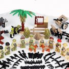 WW2 United States and British Soldiers Military building block Toy Compatible Lego minifigures