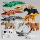 Tiger Panther Cow Shark Building block Toy Lego Animals Toys