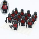 Riot Police Minifigures Compatible Lego City Police building block Toy