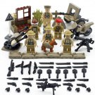 Custom minifigures british soldiers Lego compatible set of 6, collectibles, African Campaign