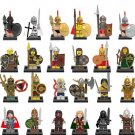 32pcs Medieval Knight Sparta 300 Soldiers Compatible Lego Medieval Knight Minifigures