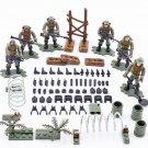 6pcs Mercenaries army Minifigures Compatible Lego Toy military set
