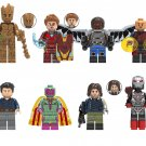 Groot Falcon Bucky Minifigures Compatible Lego Toy Avengers Super Heroes