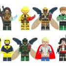 Parademon Booster Gold Power Girl Minifigures Compatible Lego DC Super Heroes