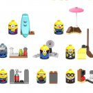 8pcs Minions Minifigures Compatible Lego Toy Comic movie sets