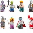 Bandage Devil Pumpkin Elsen Minifigures Chariot Compatible Lego Halloween Toy