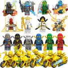 20pcs Ninjago Gold Motor Minifigures Compatible Lego Toy Ninjago set