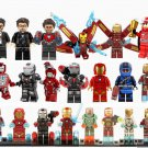 21pcs Iron Man Tony Stark Minifigures Compatible Lego Toy Avengers Super Heroes Iron Man