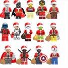 14pcs Super Hero Santa Claus Minifigures Compatible Lego Toy Christmas minifigures