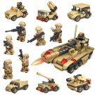 Army Soldiers Minifigures Tank Toy Compatible Lego WW2 Military Soldiers set