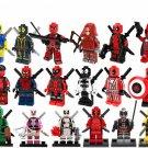 18pcs Deadpool Minifigures Compatible Lego Toy Marvel Movie Deadpool 2
