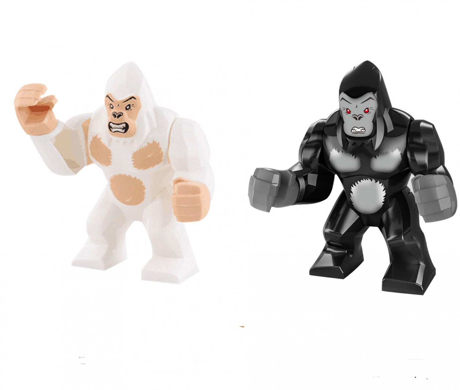 2pcs Gorilla George Minifigures Compatible Lego Toy Movie Rampage Toy