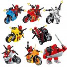 Deadpool Motorcycle Minifigures Compatible Lego Toy Superhero sets