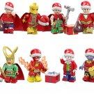 Superman Thor Thanos Christmas Minifigures Compatible Lego Toy Christmas Superhero Minifigure