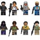 Fortnite The reaper Blue Team Leader Raven Minifigures Compatible Lego game Fortnite Toy