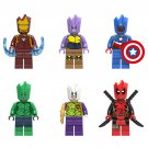 Groot Cosplay Iron Man Captain America Minifigures Compatible Lego Avengers Toy