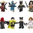 Deadpool Red Hood Yellow Lantern Minifigures Compatible Lego Toy Superhero sets