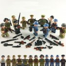 12pcs WW2 Different country Military Minifigures Compatible Lego WW2 Military Toy