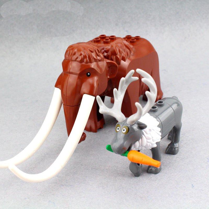 Mammuthus primigenius Elaphurus davidianus building block Toy Compatible Lego Christmas Minifigures