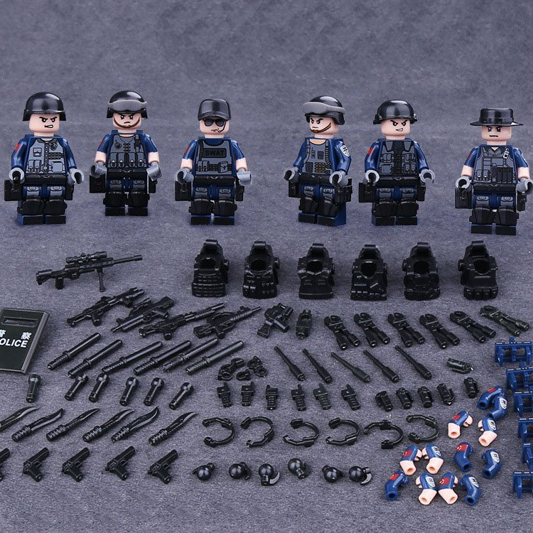 S.W.A.T.Combat Team Minifigures Compatible Lego Toy Military sets