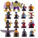 16pcs The Avengers Movie Super Hero Minifigures Compatible Lego Avenger Infinity War