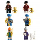 6pcs Mr. Bean Minifigures Compatible Lego Toy Johnny English 3 Minifigure