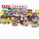 Hong Kong Mongkok food street Minifigures Compatible Lego City Hong Kong Toy