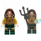 2pcs Aquaman Arthur Curry Minifigures Compatible Lego Toy DC Super Heroes Minifigure