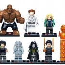 Dr. Doom magical stones Mr. Silver Surfer Fantastic Four 4 Invisible Women Lego Compatible Toys