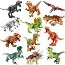 12pcs Jurassic World Dinosaur building block Toy Compatible Lego Minifigures