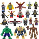 18pcs The Avengers Super Heroes Minifigures Compatible Lgeo Toy Character Minifigure