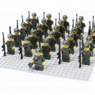 26pcs WW2 United States Soldier Minifigures Compatible Lego WW2 Military Soldier Minifigures