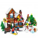 Christmas Day Store Skiing Minifigures Compatible Lego Christmas Toy