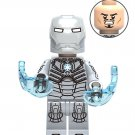 Chrom Silver Iron Man MK2  Lego Super Heroes Minifigure Compatible Toy